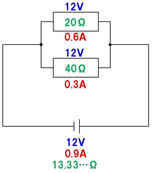 並列回路の計算