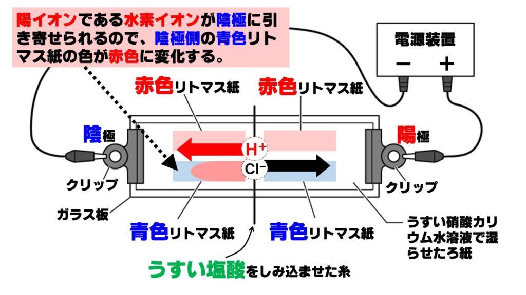水素イオンの移動