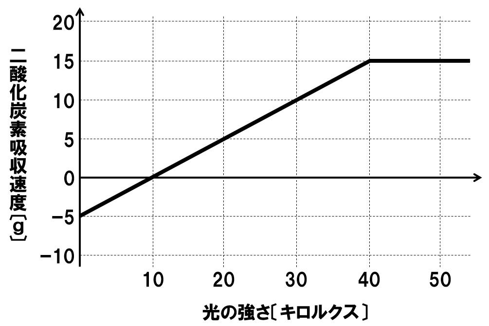 光合成速度のグラフ