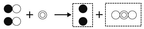 酸化銅の還元 モデル図 作図解答