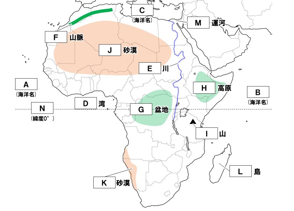 アフリカの地形