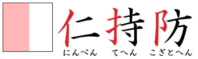 漢字の部首「へん」