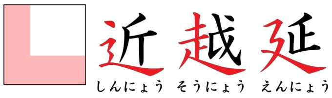 漢字の部首「にょう」