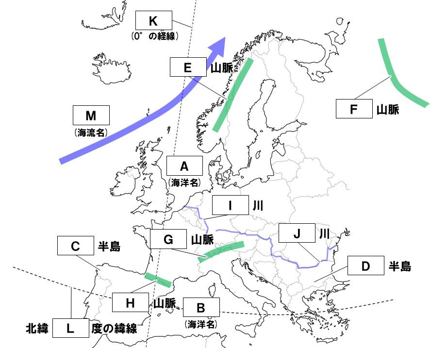 ヨーロッパの地形
