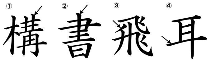 漢字の筆順 画数