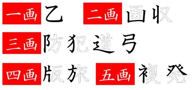 漢字の画数
